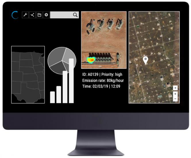 Bluefield Methane Software UI
